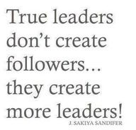 Create leaders, not followers!