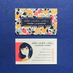 Card Design Discover Abbi Laura Designs Business Card Abbi Udell designed these business cards for her personal branding and her Etsy shop Abbi Laura Designs. Personal Branding, Self Branding, Corporate Branding, Logo Branding, Personal Cards Design, Restaurant Branding, Business Card Design Inspiration, Business Design, Creative Business