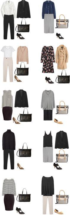 livelovesara - My life in a blog by Sara Watson. Basic Workwear Capsule Wardrobe. 1-10 Outfits