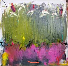 Pulling From Deep  Original Abstract Acryllic painting by LivsGlad