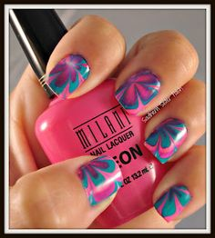 Cotton candy water marble tutorial wish I Coul do this Water Marble Nails, Marble Nail Art, Water Nails, Holiday Nail Designs, Cute Nail Designs, Art Designs, Hot Nails, Hair And Nails, Tie Dye Nails