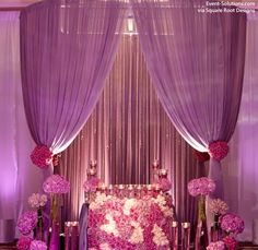 Purple Draping and Mixed Floral