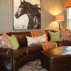 chocolate brown couch with nailhead trim | Room brown leather couch with nailhead trim, brown/gray or gray/brown ...