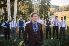 Burgundy & Blue groom wedding style | Floral, Decor & Planning by Harvest Moon Events | Photography by Bacio | Location Montage Deer Valley | www.harvestmoonevents.com