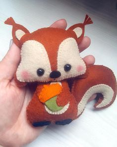 #scoiattolo in feltro e pannolenci #  Squirrel PDF pattern-Woodland animals toy-DIY-Nursery