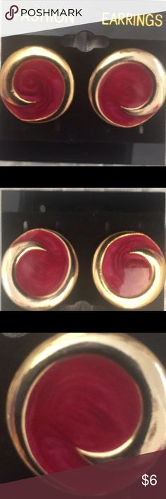 ✌️GROOVY BABY VINTAGE EARRINGS✌️✌ ANTIQUE 1960's AUTHENTIC VINTAGE EARRING✌️✌✌✌✌✌✌✌✌✌✌✌ purchased from antique shop in Northern Cali. Told they were a pair of pyschadelic swirl red and gold 1960 earrings. Just cool looking. I love the swirl & throwback to the 60's vibe these cool earring have. UNUQUE. COOL. AUTHENTIC VINTAGE. BUNDLE & SAVE THIS WEEKEND$3.99 shipping 30% off 2+ items. Great time to snag up your favs . Jewelry Earrings