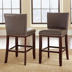 Gracewood Hollow Tisbury Faux Leather Bar Stool by Greyson Living (Set of ( 24 Bar Stools, Kitchen Stools, Bar Chairs, Dining Chairs, Island Chairs, Kitchen Island, Side Chairs, Room Chairs, Counter Height Table Sets