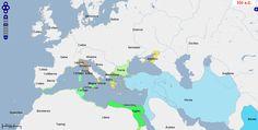 ➯ Ver en Pinterest: #76 #Mapa de Europa, Oriente Medio y África del Norte, 350 a. C.  Fuente: geacron.com