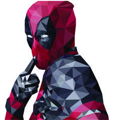 #graphicdesign #graphic #design #polygon #polygonart #art #lowpoly #adobe #illustrator #vector #deadpool