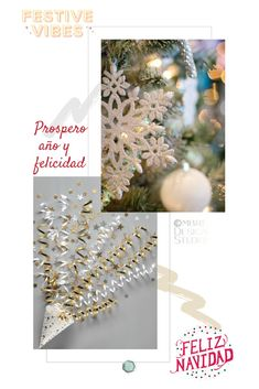 Find inspiration for adding those clean and crisp, bright and white, snuggly gold and silver festive vibes. Wishing you a Bright Festive Season! Color Inspiration, Crisp, Festive, Palette, White Gold, Spirit, Christmas Tree, Bright, Seasons