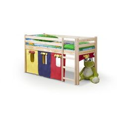 Pat din lemn de pin pentru copii Neo Bunk Beds, Toy Chest, Storage Chest, Cabinet, Furniture, Home Decor, Pine, Clothes Stand, Pine Tree