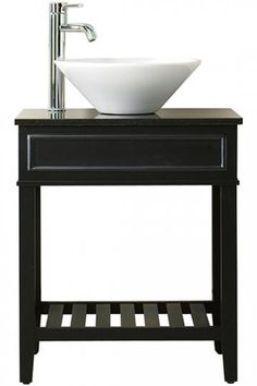 "Bathroom Vanity No Faucet Holes 303992 30"" taren vanity for vessel sink - no faucet holes - 3/4"