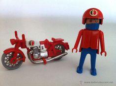 Click motorista con su moto, de Famobil - Anterior a Playmobil (Juguetes - Figuras de Acción - Playmobil)