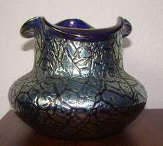 SUPERB ANTIQUE LOETZ TIFFANY ERA BLUE IRRIDIZED ASTGLASS VASE BY LOETZ FABULOUS | Pottery & Glass, Glass, Art Glass | eBay!