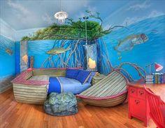 Tropisches Unterwasser Kinderzimmer