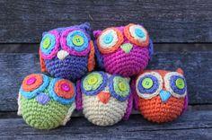 Bright Owl Amigurumi by wickedsweets on Etsy, $7.00