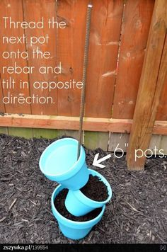 Pinterest Gardening With Pots - cute next to garden boxes