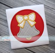 Christmas Bell Circle Applique Design