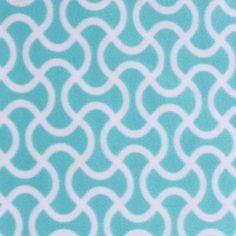 Blizzard Fleece Fabric- Blue Tint Squiggles, , hi-res