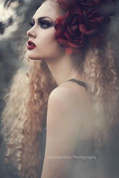 Amanda Diaz Photography -- Portrait - Flower - Hair - Photography - Pose
