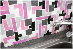 Tetris tiles.