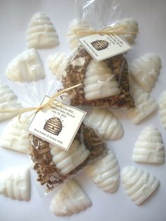 "20 Honey Bee Hive Glycerin Soap Favors  These are a must!!! So adorable! by ""brownbagbathbars"" on Etsy    $28"