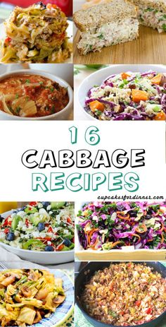 """16 delicious, healthy cabbage recipes – Cupcakes for Dinner – Cabbage is cheap. Like $.35 a pound cheap. Like I just got a really nice size cabbage for $1.25 cheap which will be used for many many meals. I pretty much constantly have cabbage in my house but I always sit there and stare and think """"What am I going to make with this?"""" But cabbage can be treated in so many different ways! It's amazing I ever get stuck. So here's a list of some amazing cabbage recipes that I love. Whether you..."""