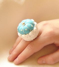sweet pin cushion ring