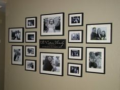 Wall Collage Ideas Living Room 49 How to Make A Gallery Wall Just Like Mine Family Wall Collage, Frame Wall Collage, Family Wall Decor, Photo Wall Decor, Photo Wall Collage, Frames On Wall, Picture Wall, Photo Wall Layout, Frame Collages