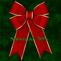 Scrapbook digital velvet Christmas bows in several classic Christmas colors. They are created at 300 DPI in PNG format. These bows were all made individually in my program.