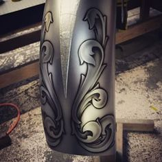 gas tank filigree scroll - Google Search