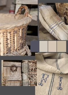 Grain & flour sacks, hessian, scrubbed wood and laundered linen. Recycled, upcycled rustic elements are some of my favourite interior decora.