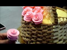 Fresh Cream Icing Flowers - How To Make Easy Frosting Flowers - Cake Decorating Tutorial - YouTube