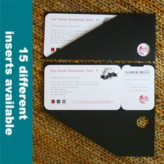 A+ Vegas Boarding Pass Invitations with Black Jacket$187.90