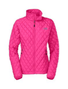 "Thermoball Jacket - North Face....one color is cuter than the next!!  Was disappointed in the color....was not this gorgeous pink, but more of a flourescent and the seams showed through darker.   The Orange was like a ""safety orange"".  Ended up with the black, love!  Was just bummed the pink wasn't as pretty as shown."