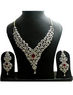 Beautiful Party Wear Necklace Set Item code : JVI17