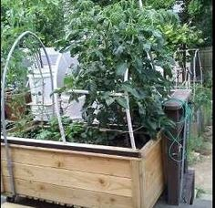 Deck garden planter box