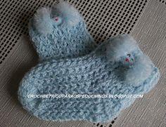 As Receitas de Crochê: Meia de crochê para bebe