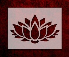 lotus flower This Lotus Flower stencil can be made in multiple sizes and is made from high quality, semi-transparent, 7 mil mylar plastic. This material can be used many times and can be Lotus Artwork, Lotus Painting, Stencil Painting, Drawing Stencils, Stencil Patterns, Stencil Designs, Lotus Flower Art, Flower Outline, Custom Stencils