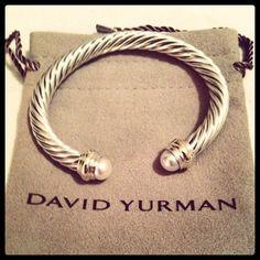 Pearls and David Yurman? Couldn't get any better! want this so bad!!!!!