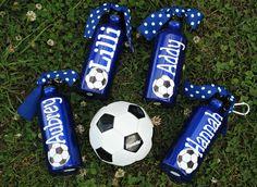 Aluminum Water Bottle Soccer Theme - good gifts for teammates' birthdays, etc.