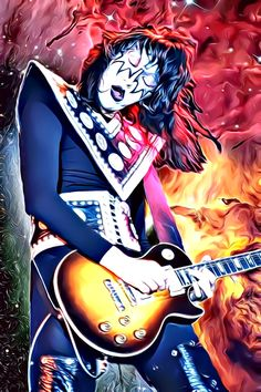 Fine Art Posters, Fine Art Prints, Metal Bands, Rock Bands, Rock Band Posters, Heavy Metal Art, Kiss Band, Mailing Address, Ace Frehley