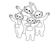 Printable Pictures Teletubbies Together Coloring Pages - Teletubbies Coloring Pages : KidsDrawing – Free Coloring Pages Online