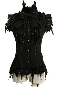 Dead Lyrics shirt by Punk Rave is afitting black sleeveless blouse with ruffles along the seams and down the front. This gothic skirt has red colouring, as if it has been dipped in blood. £29.50 ♥♥♥♥♥♥♥♥♥♥♥♥♥♥♥♥♥♥♥