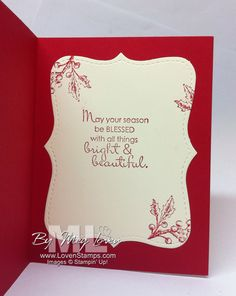 like the inside of this card