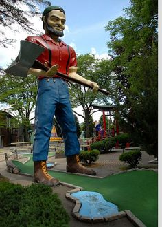 Paul Bunyan - Lake George--One of the best mini-golf places Lake George Ny, Lake George Village, Mini Golf Places, Paul Bunyan, Summer Vacation Spots, Fun Winter Activities, Adirondack Mountains, Miniature Golf, Old Quilts