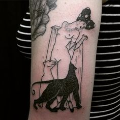 Taticompton - Fun one for Celina -::- Based off of 1913 illustration by Ferenc Helbing -::- #handpoked @martlettattoo