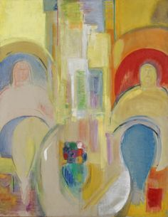 Two Seated Women, 1968, by Ruth Abrams