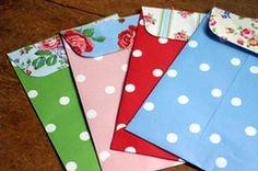 Cath Kidston polka dot paper envelopes