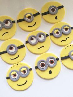 Minion Cupcake Toppers Fondant by MilkandHoneyCakery on Etsy